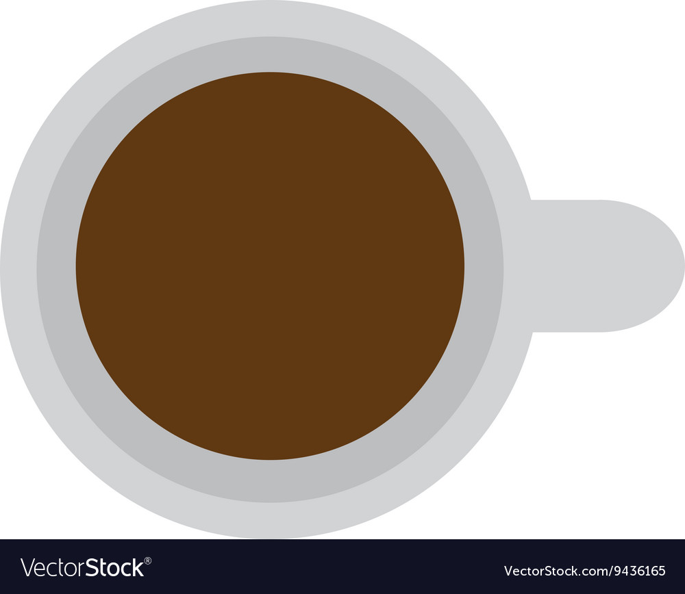 Topview coffee cup vector image