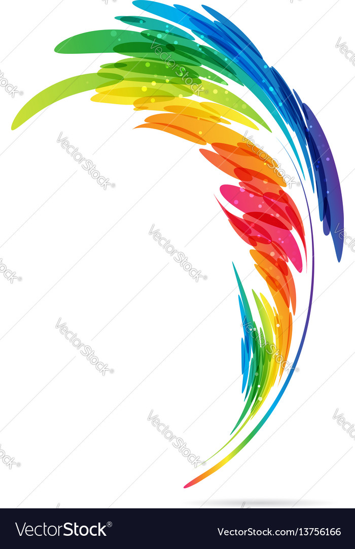 Art bright feather vector image