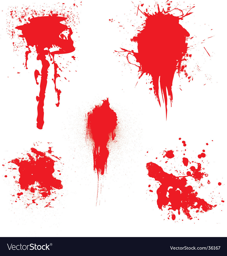 Blood dribble vector image