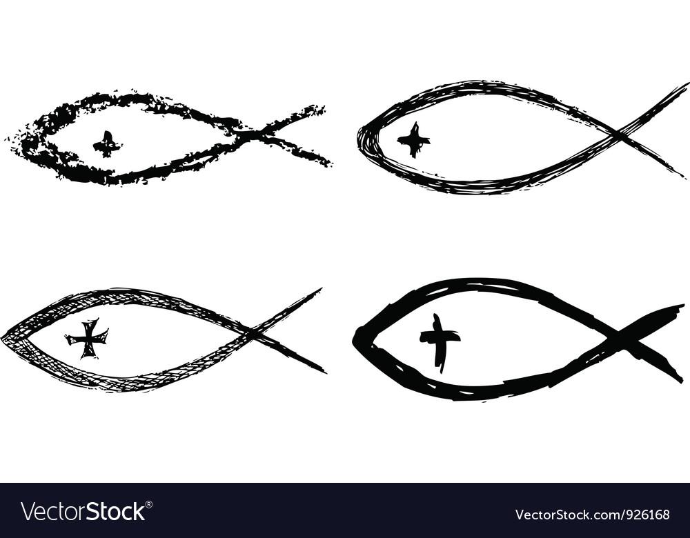 Christian fish icon vector image
