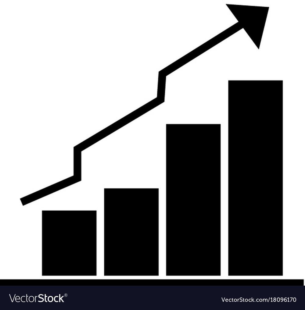 Bars graphic ascendant icon vector image