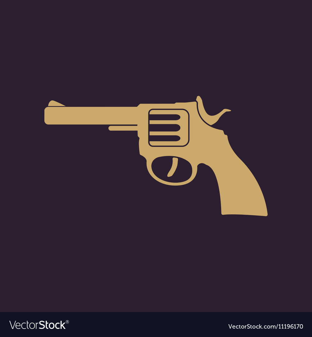 The revolver icon gun and weapon symbol flat vector image biocorpaavc Images