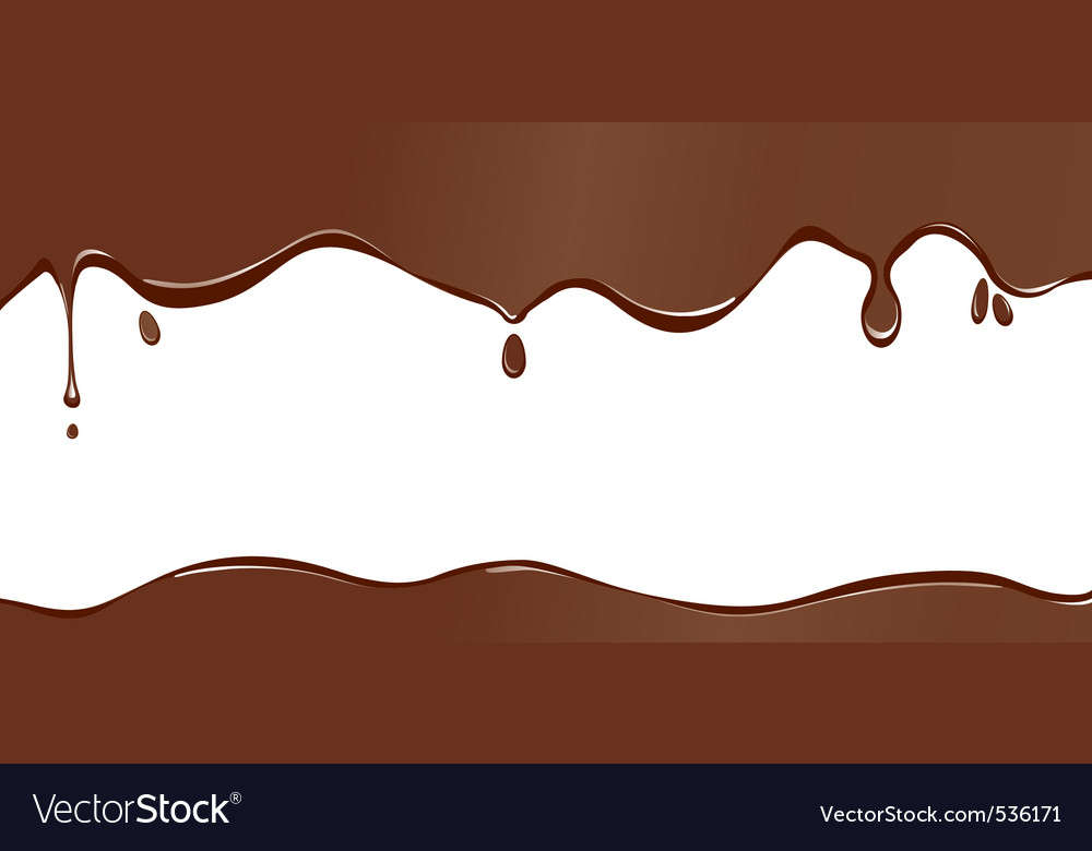 Chocolate drip vector image