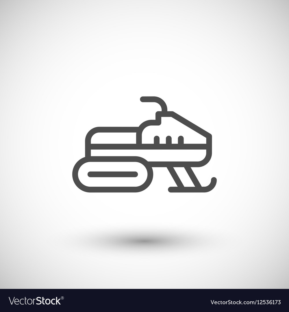 Snowmobile line icon vector image