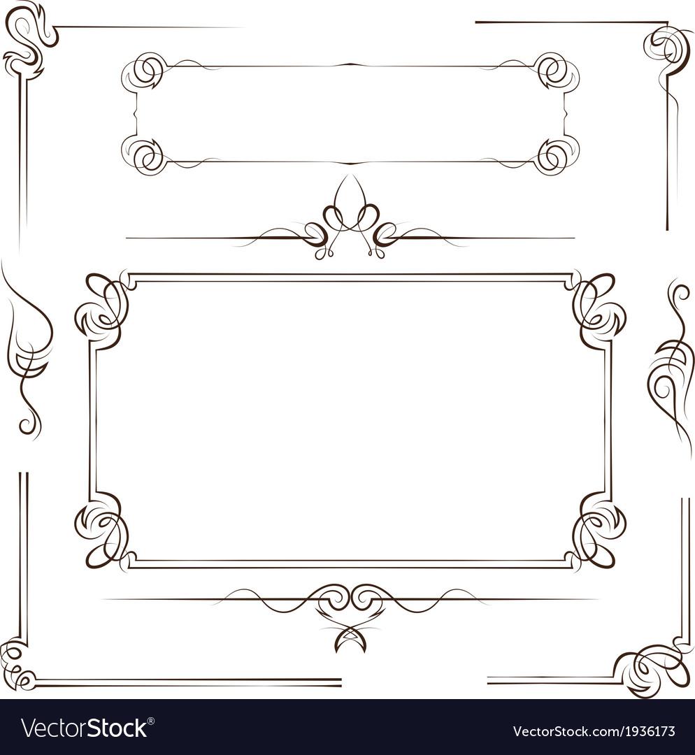 Vintage multilayer set frame vector image