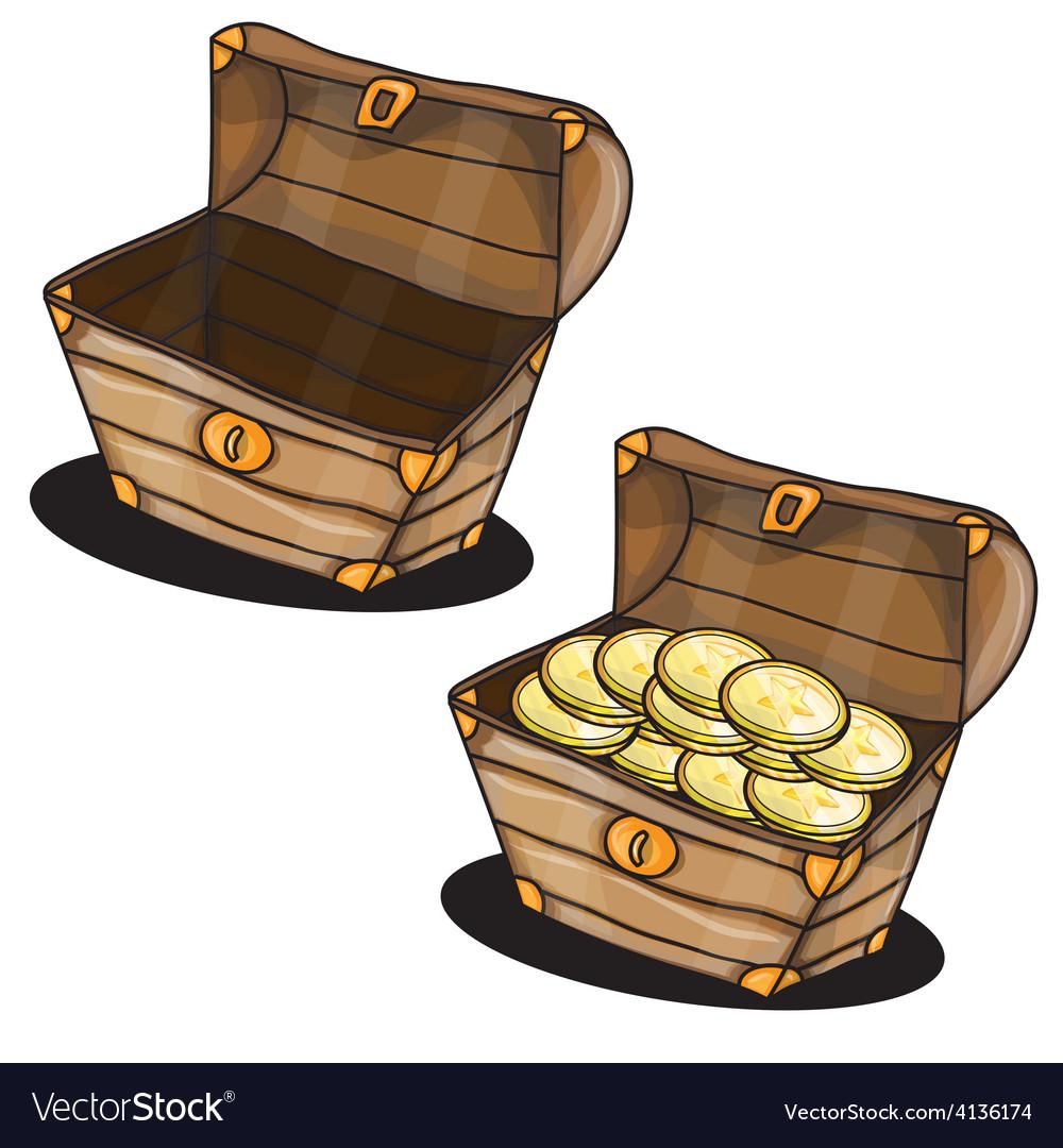 Cartoon chest vector image