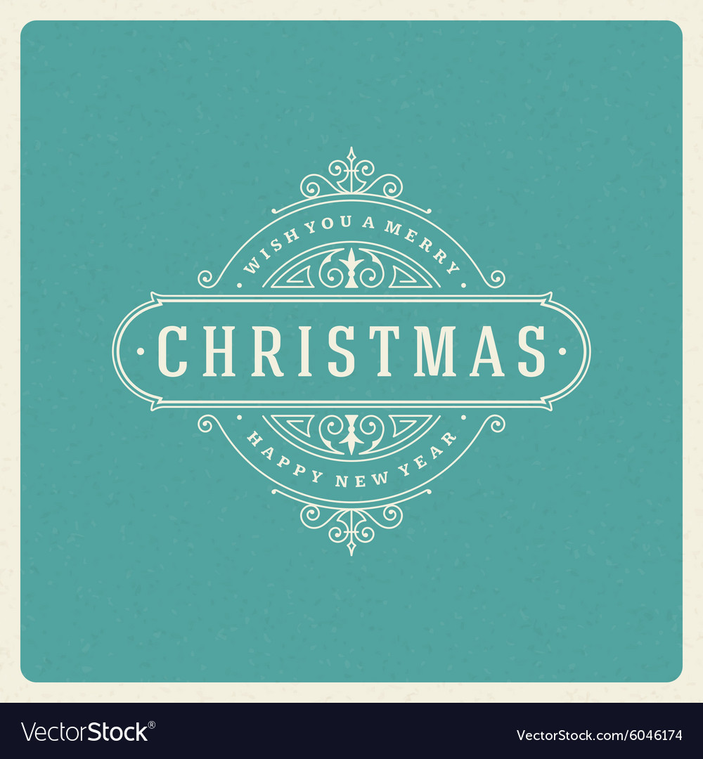 Christmas greeting card flourishes ornament vector image