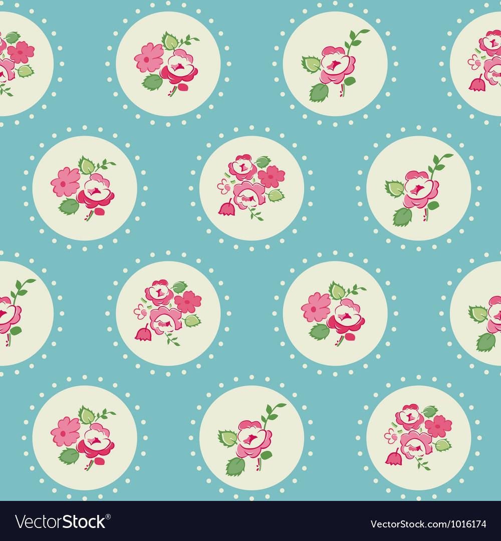 Seamless Vintage Flower Background vector image