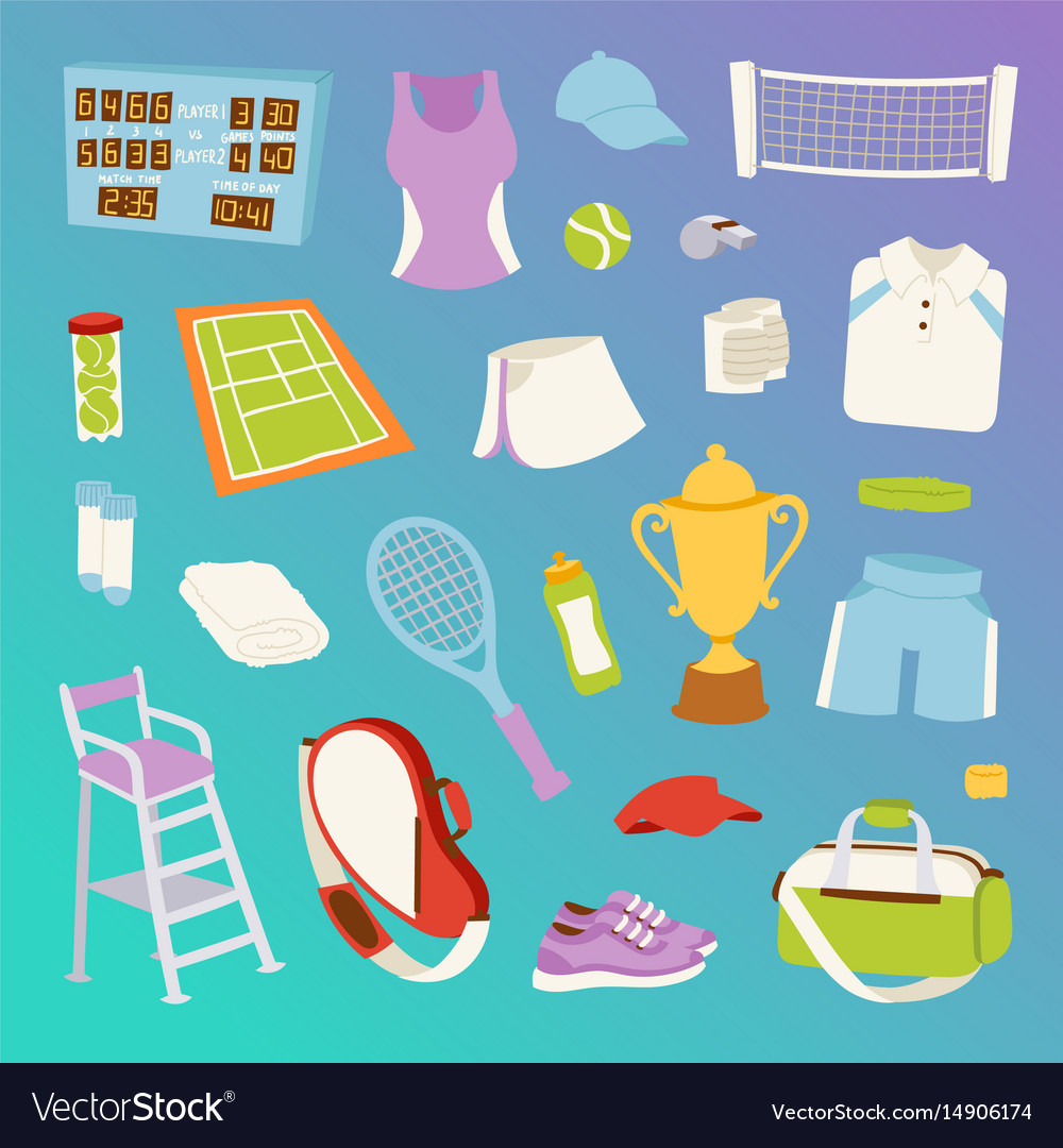 Tennis seamless pattern vector image