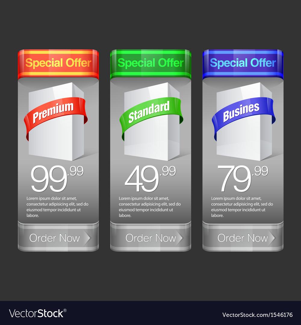 Elegant modern Banner set vector image
