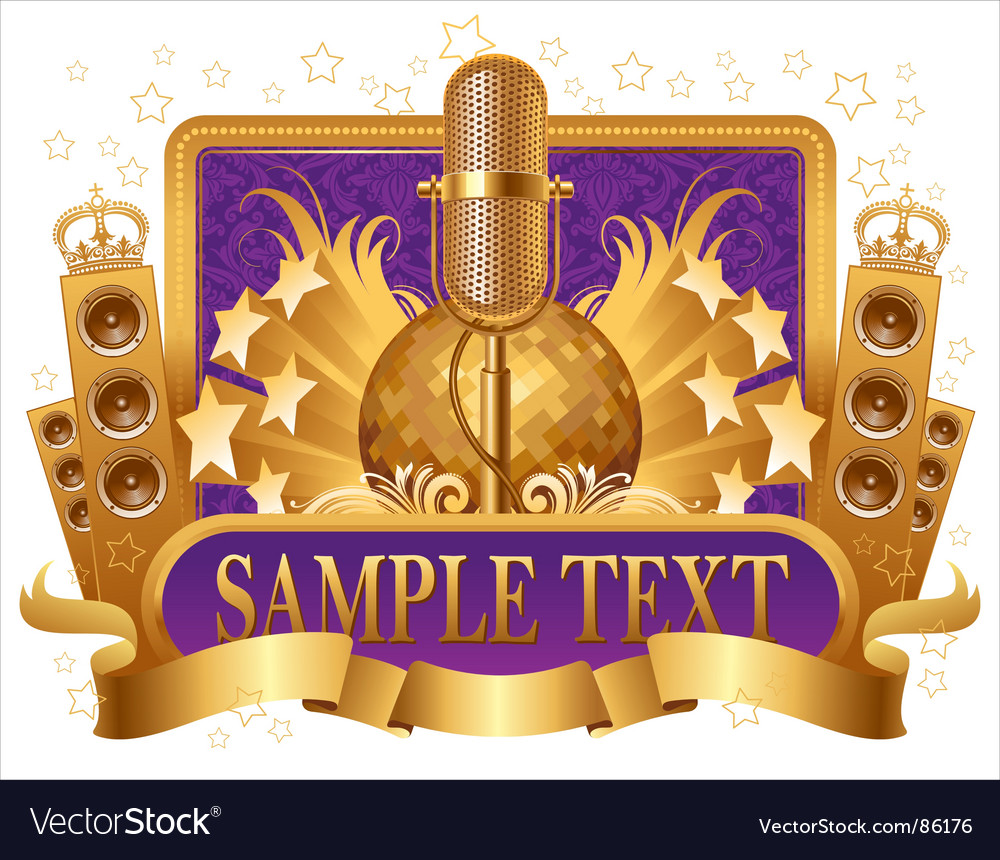 Musical objects vector image