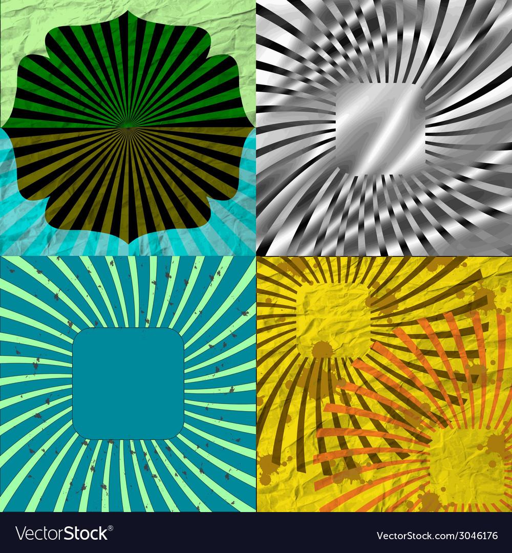 Seamless Vintage Geometric Retro Lines Grunge