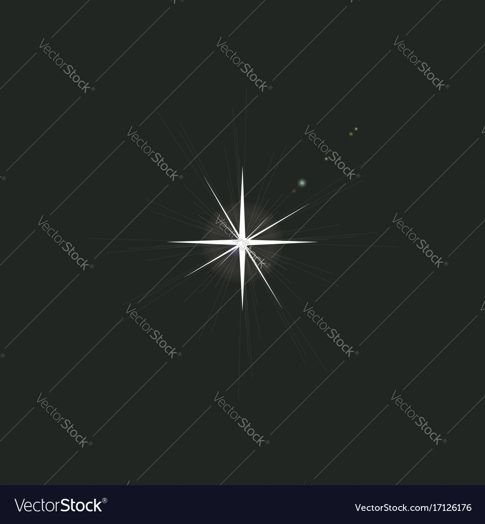 Sparkle light glowing light effect for decoration vector image