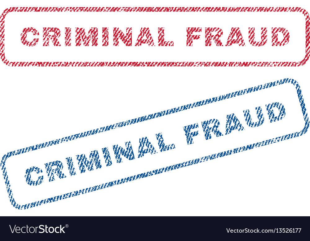 Criminal fraud textile stamps vector image