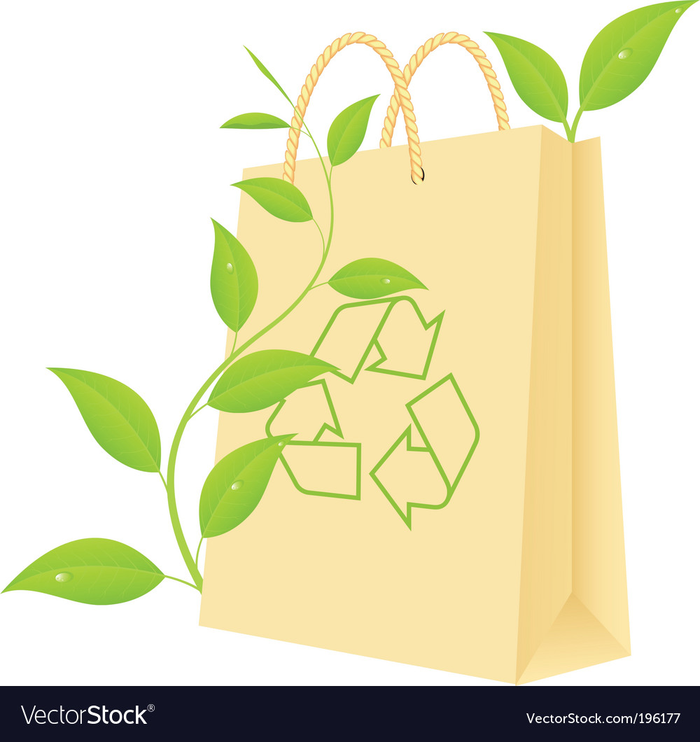 Green package vector image