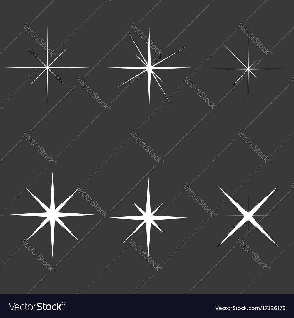 Sparkle lights vector image