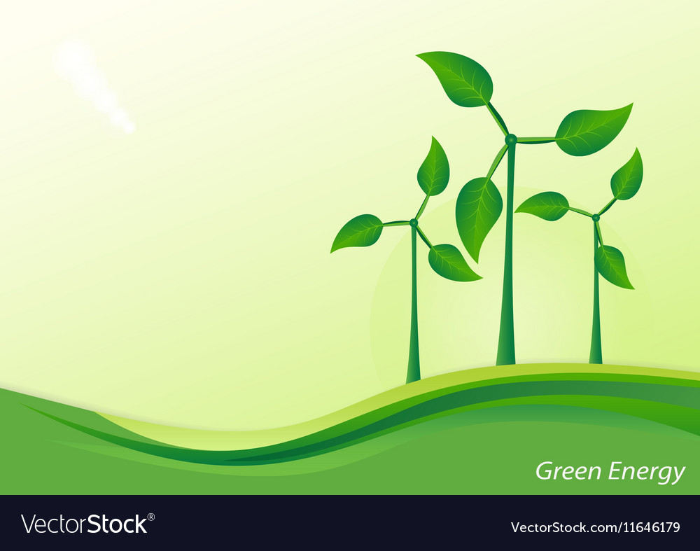 Wind Generator Green Energy Background Royalty Free Vector