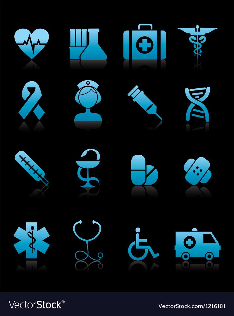 Medicine icons vecior vector image
