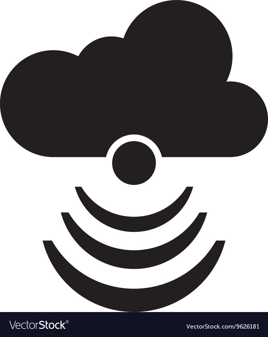 Cloud with wifi icon vector image
