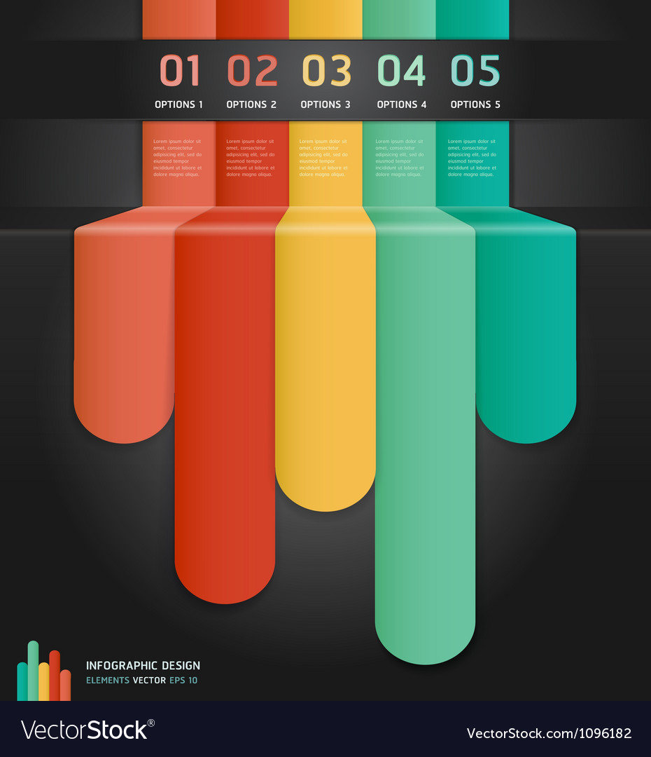 Colorful number options banner template vector image