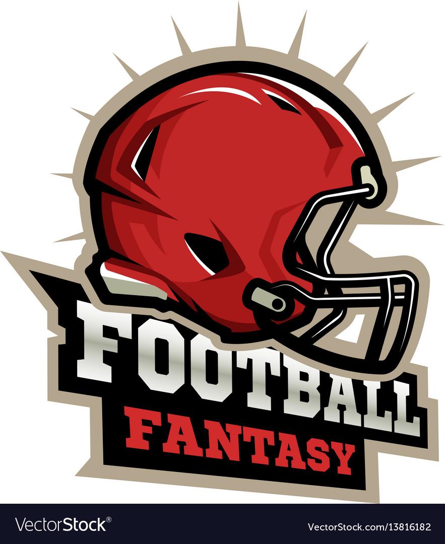 American football modern logo vector image