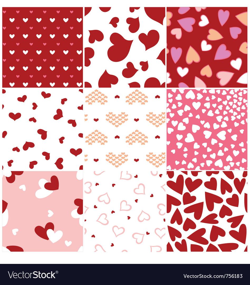 Fashion heart seamless pattern vector image