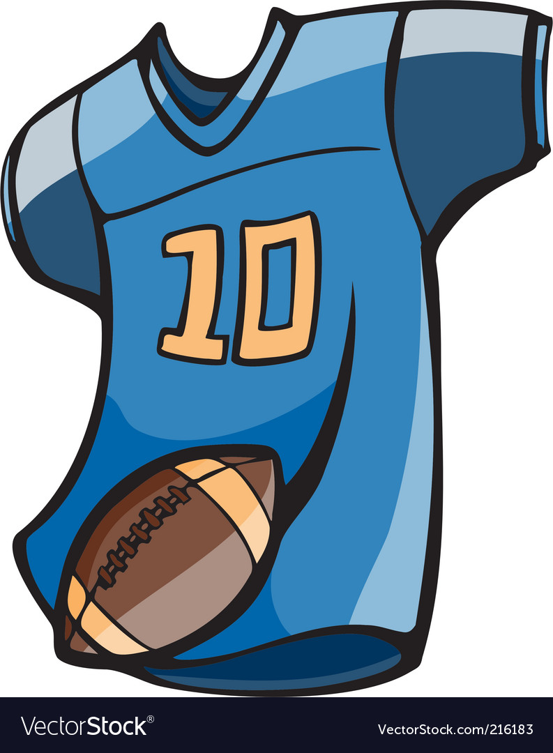 Football jersey vector image