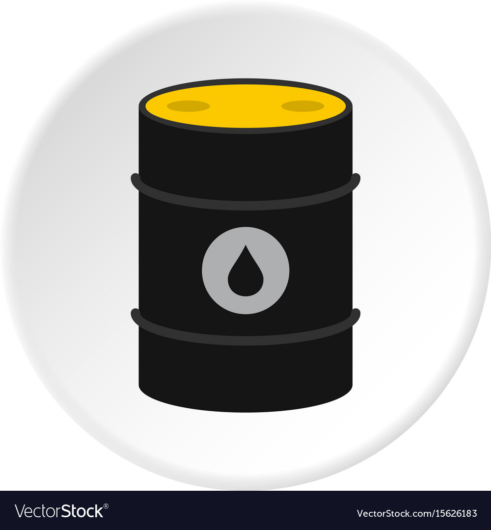 Oil icon circle vector image