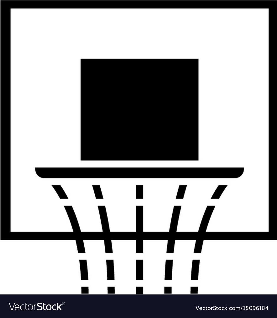 Basketball hoop icon black vector image