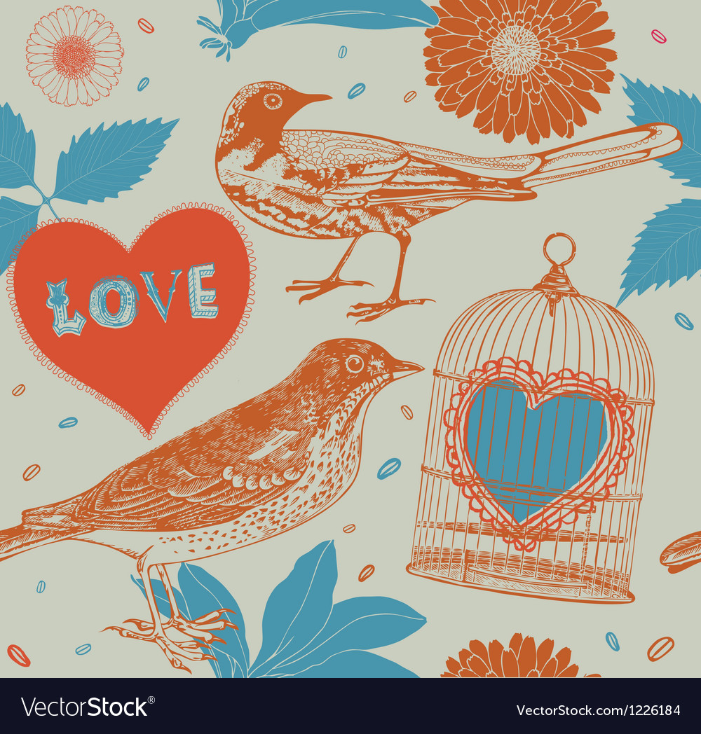 Birds and cages vector image