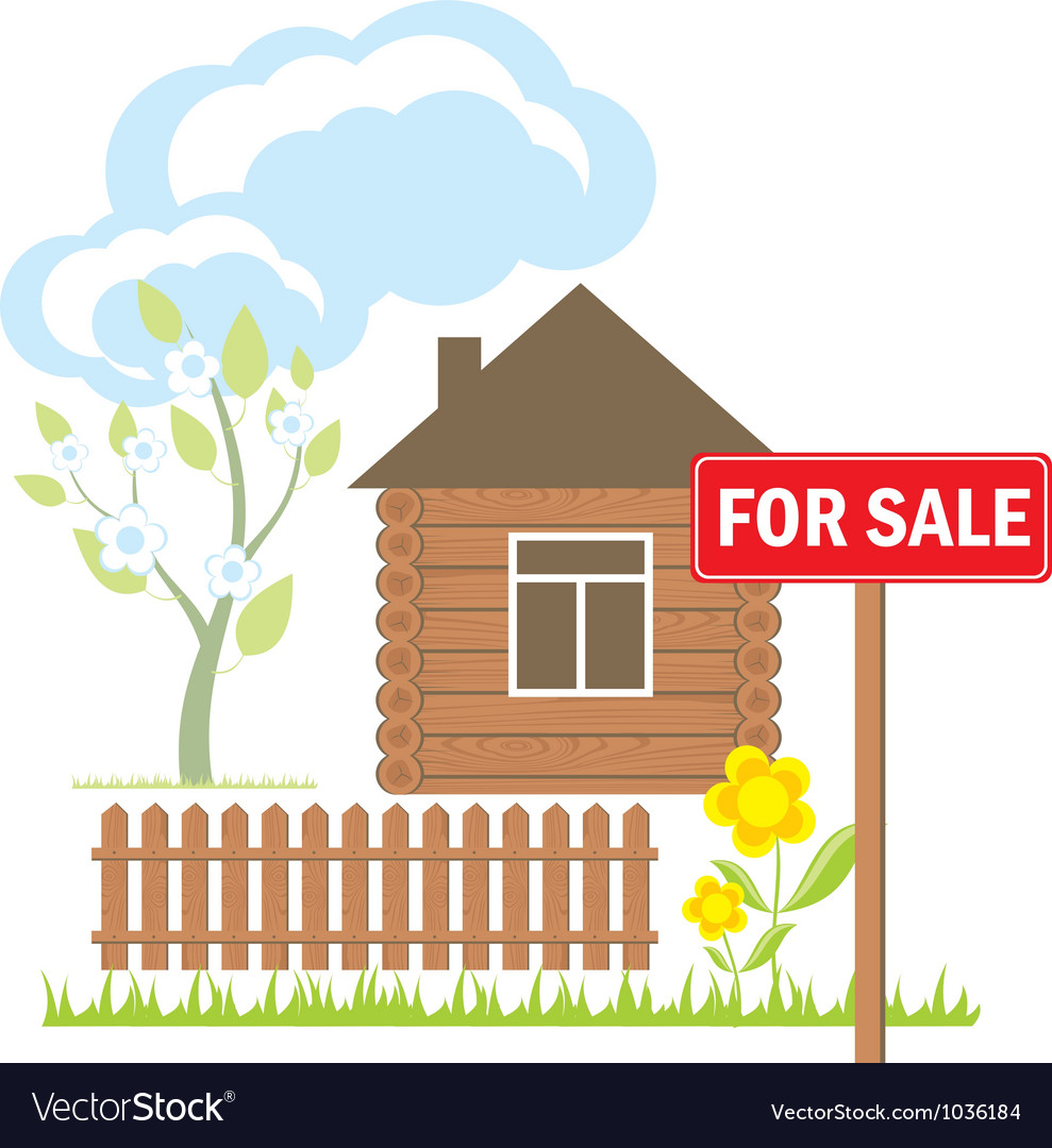 House Sale Sign vector image