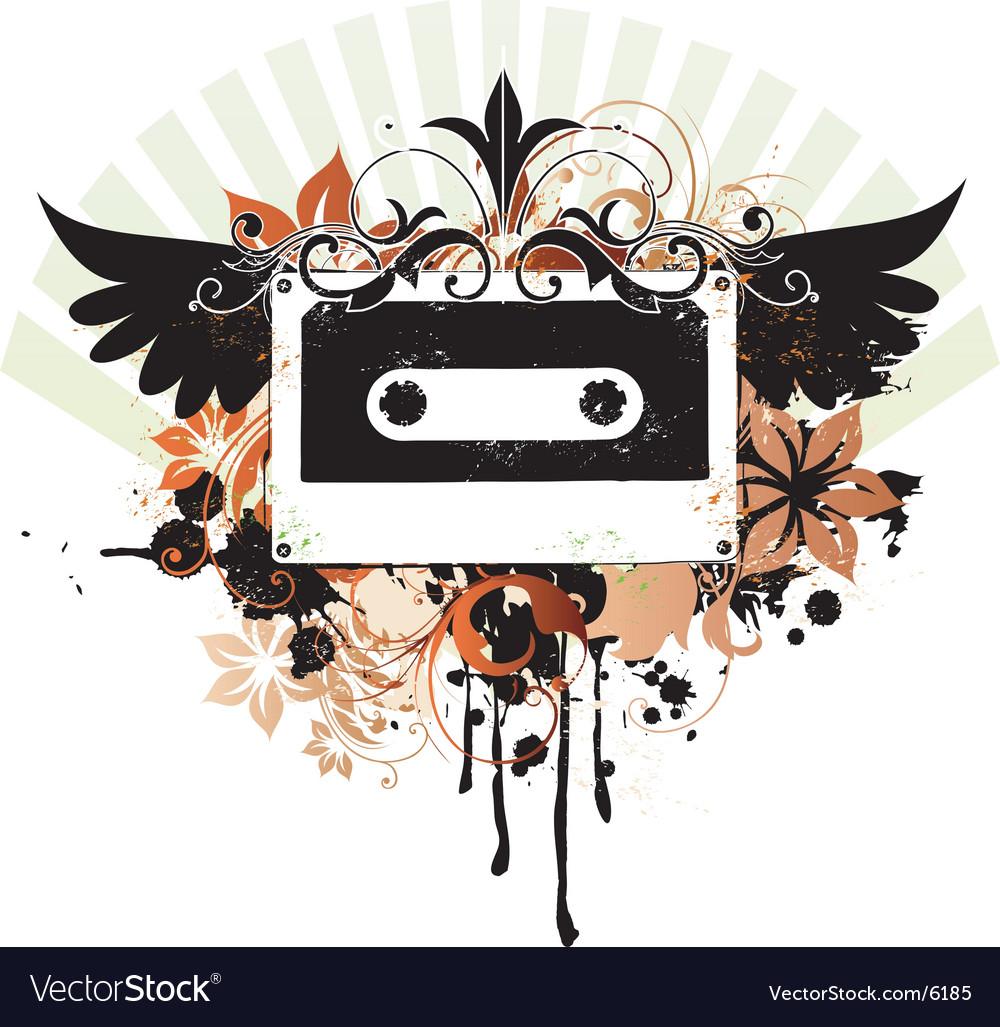 Urban music graphic vector image