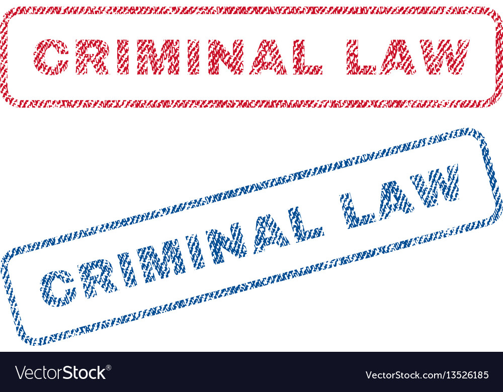 Criminal law textile stamps vector image