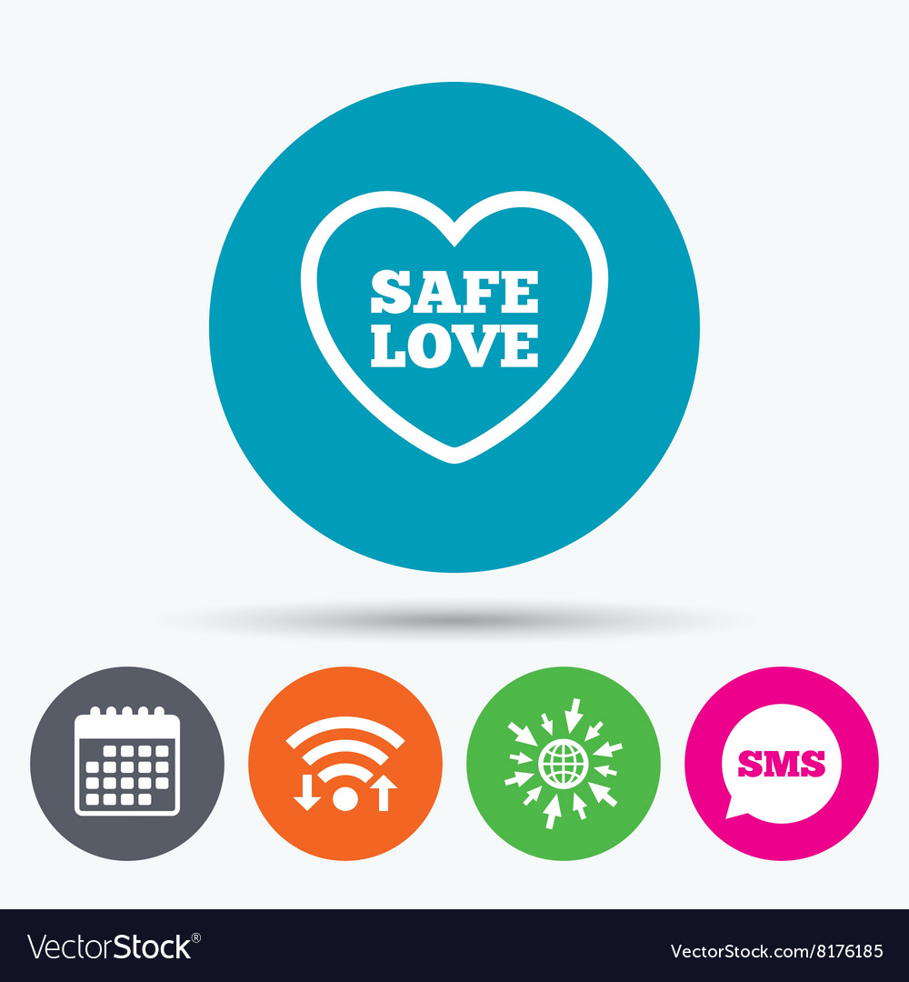 Safe love sign icon safe sex symbol royalty free vector safe love sign icon safe sex symbol vector image buycottarizona