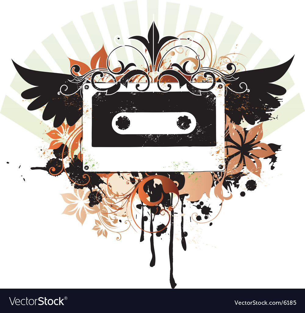 Urban music graphic vector image