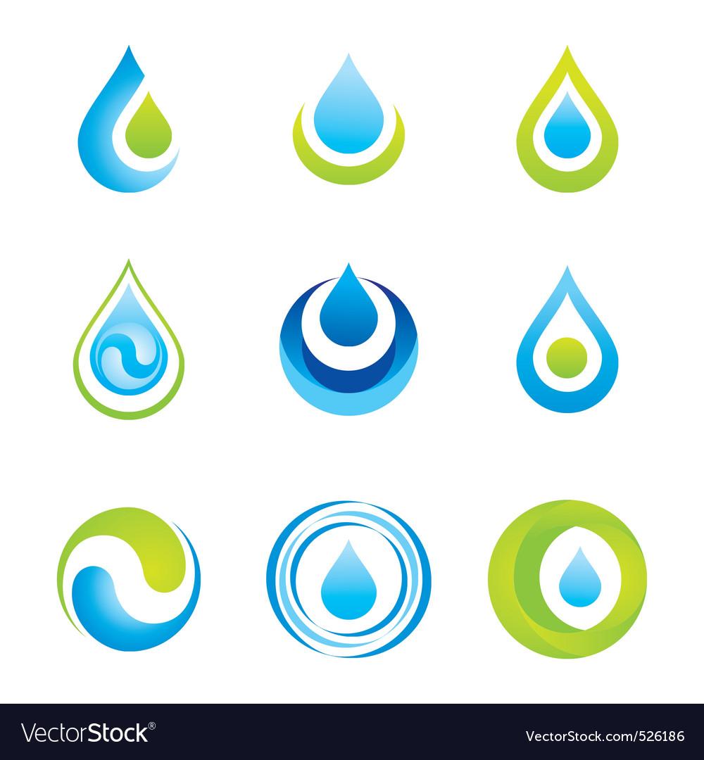 Water symbols vector image