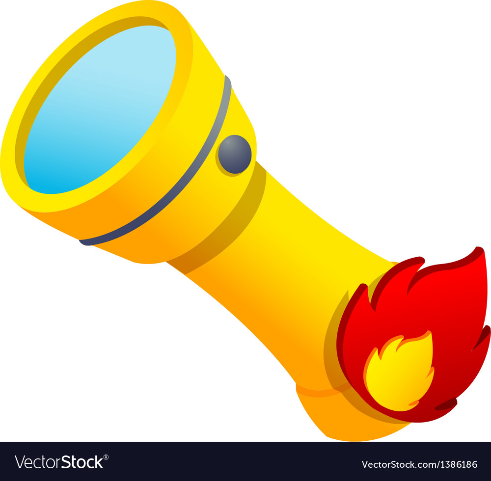 Icon flashlight vector image