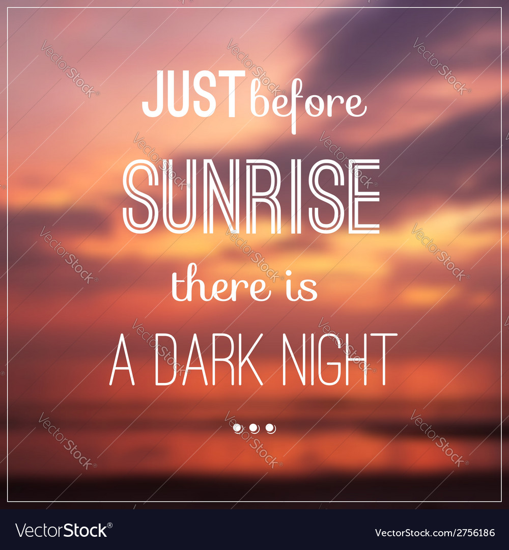 Typography design with quote vector image