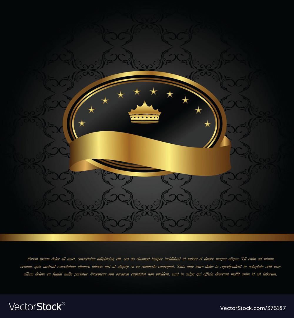 Royal background with golden frame vector image