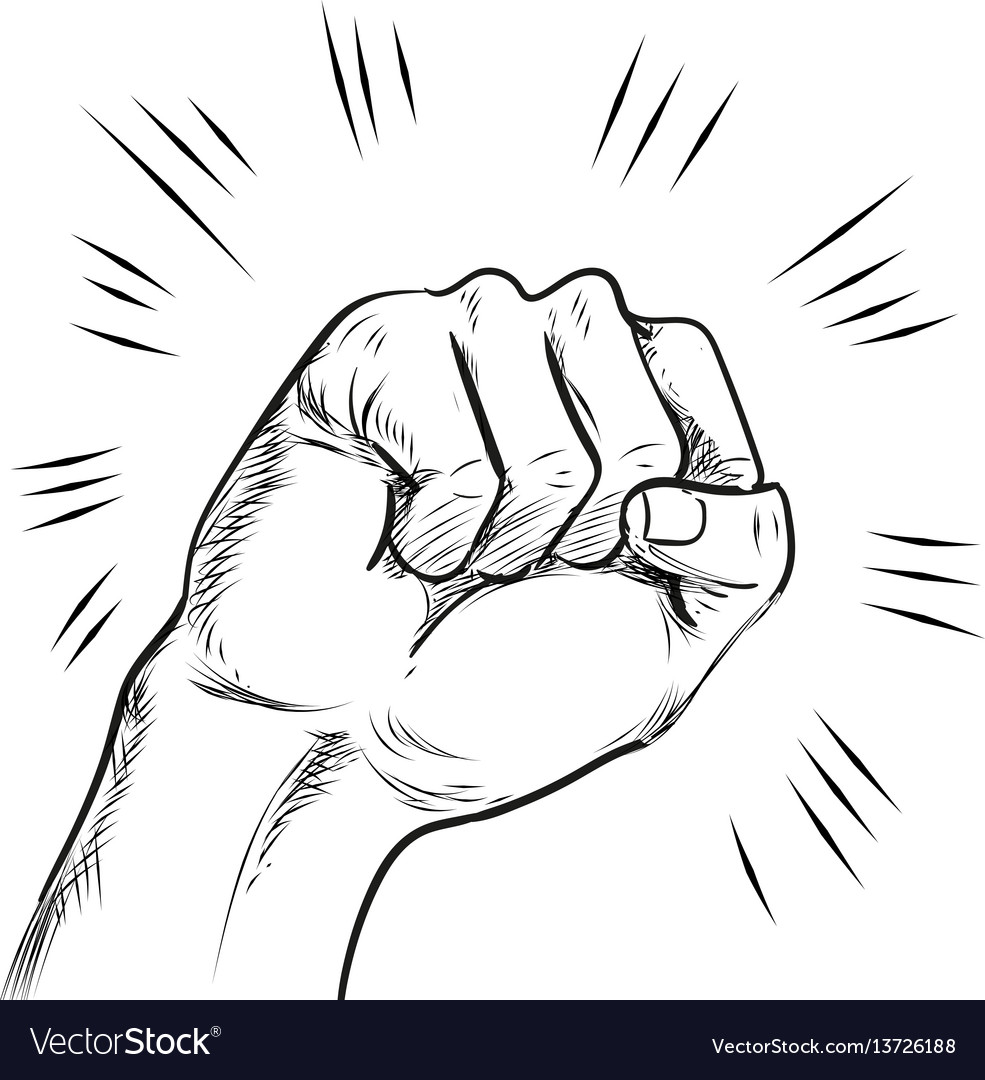 Hand punch line vector image