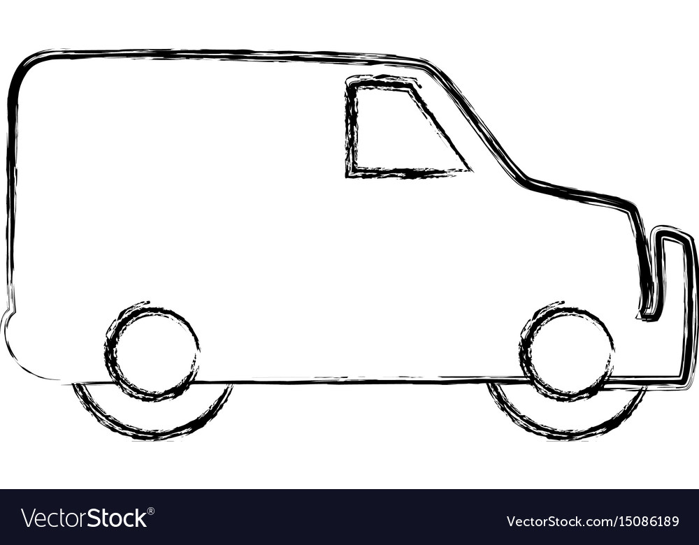 Figure truck to transportation delivery and vector image