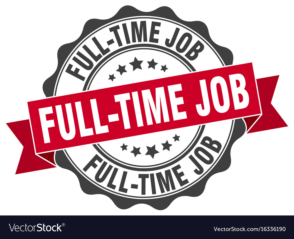 Full-time job stamp sign seal vector image