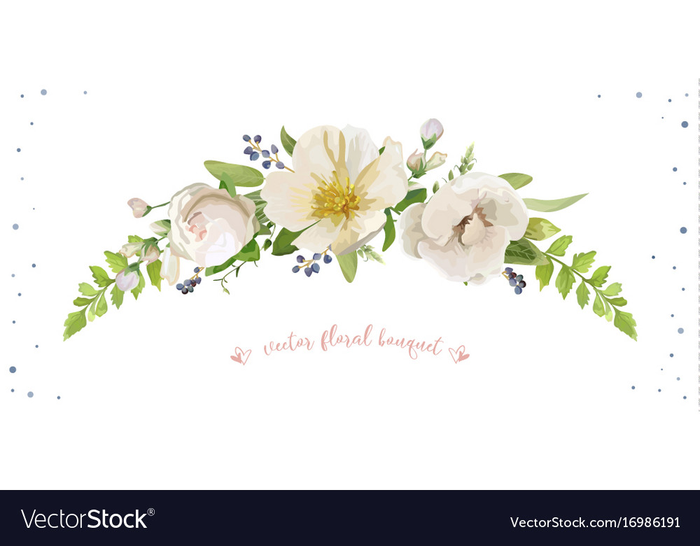 Flower bouquet design object element light pink vector image