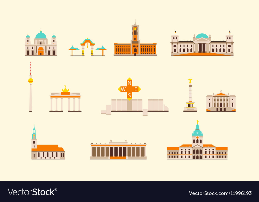 Berlin historical building vector image