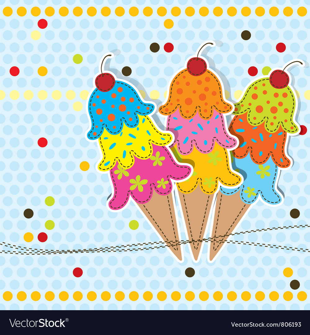 Greeting card scrapbook vector image