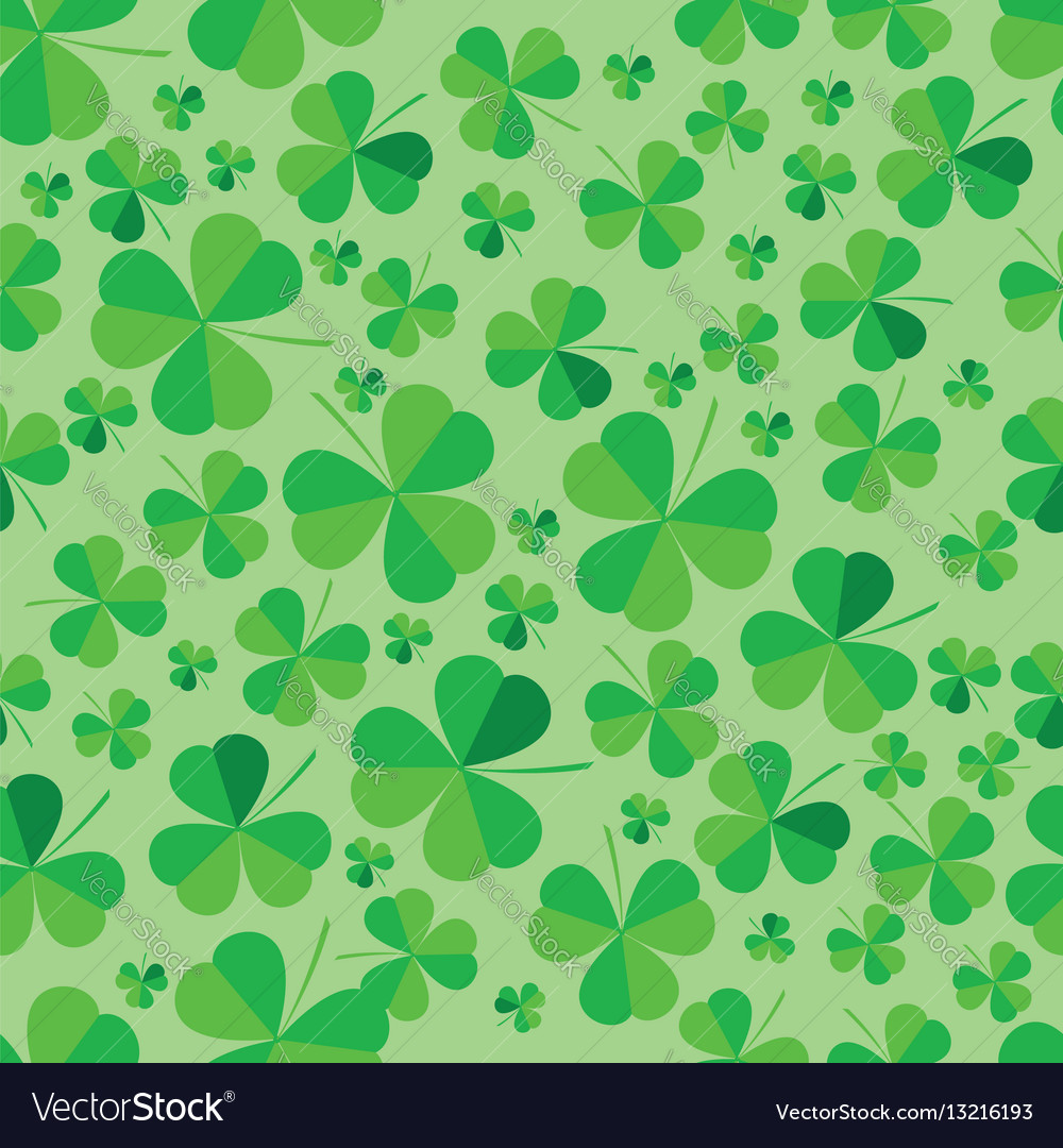 Patrick clover seamless bright background vector image