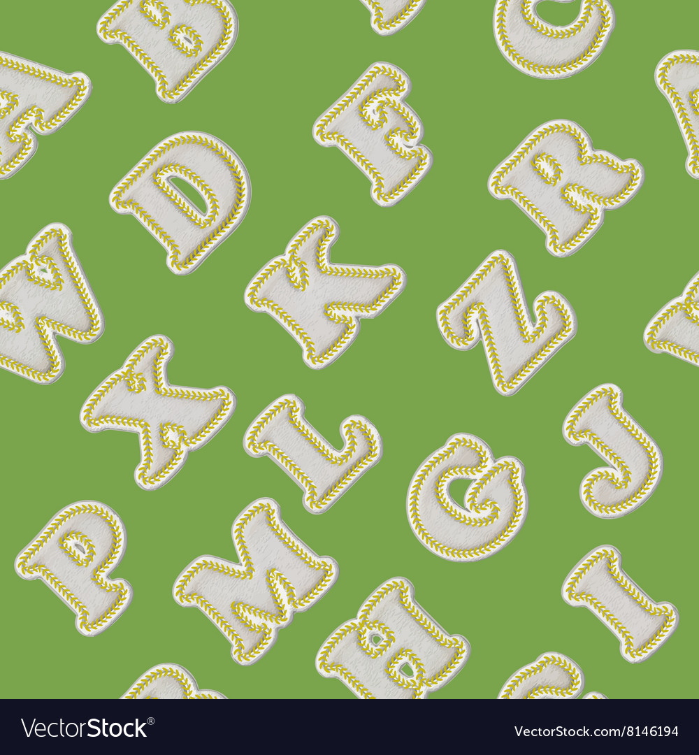 Baseball alphabet background vector image