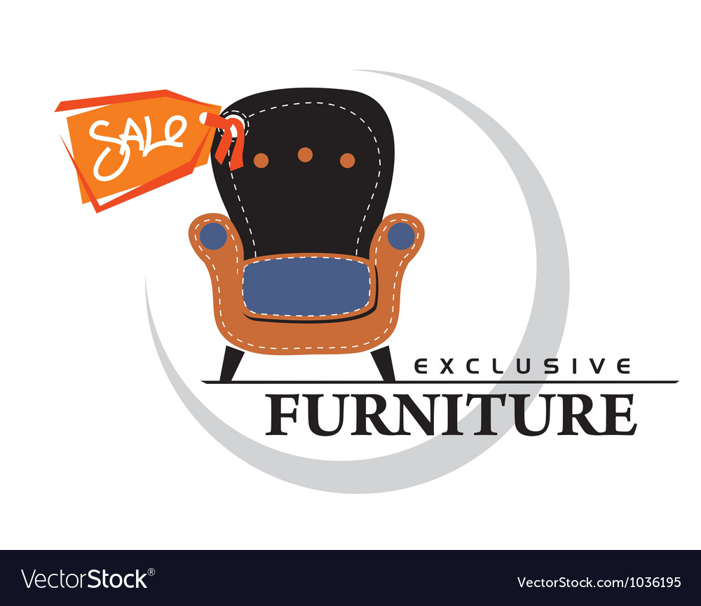 Furniture Sale tag vector image