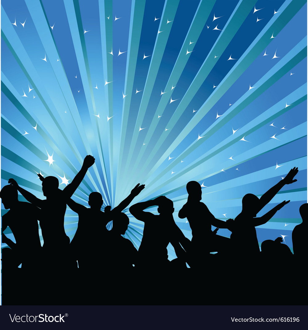 Abstract background with dancers vector image