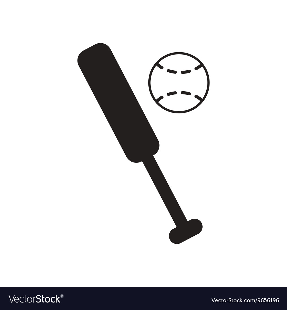 Flat icon in black and white style ball baseball